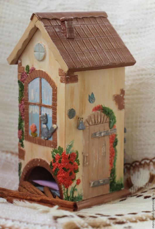 """Кухня ручной работы. Ярмарка Мастеров - ручная работа. Купить Чайный домик """"Сидит кошка на окошке"""". Handmade. Комбинированный"""