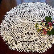 Для дома и интерьера handmade. Livemaster - original item Large round doily or small tablecloth crochet. Handmade.