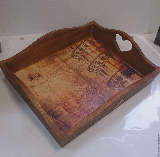 Кухня ручной работы. Ярмарка Мастеров - ручная работа. Купить поднос Римские Каникулы. Handmade. Комбинированный, поднос подарок, воск