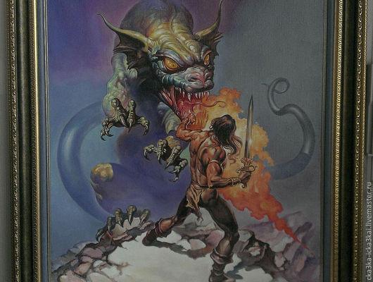 """картина с драконом """"Великолепный""""  картина на заказ 60х80,  ручная работа - холст, масло. 55тыс.руб."""