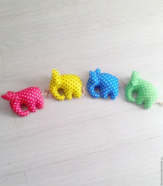 Игрушки животные, ручной работы. Ярмарка Мастеров - ручная работа. Купить красный..желтый..синий..зеленый....слон. Handmade. Комбинированный