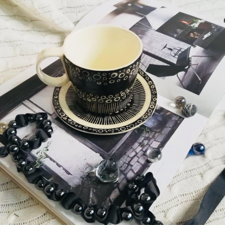 Чайная пара в технике сграффито, Чайные пары, Москва,  Фото №1