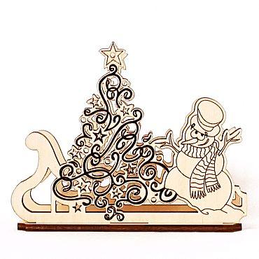 """Для дома и интерьера ручной работы. Ярмарка Мастеров - ручная работа Салфетница """"Новогодняя"""". Handmade."""