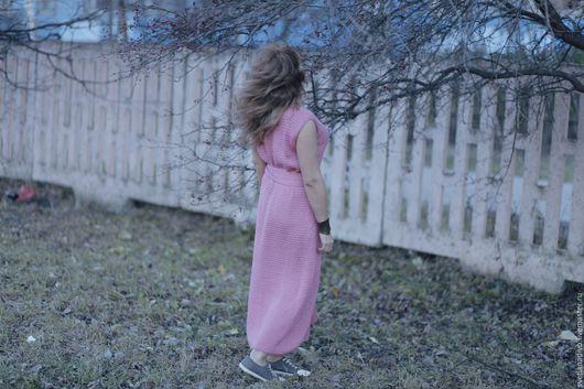 """Платья ручной работы. Ярмарка Мастеров - ручная работа. Купить Платье """"Розовое"""". Handmade. Вязаное платье, пинк, повседневное платье"""