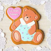 Сувениры и подарки handmade. Livemaster - original item Great gift gingerbread Bear in a dress. Handmade.