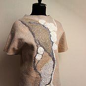 Одежда handmade. Livemaster - original item Sweatshirts: The taste of vanilla. Handmade.