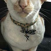 Зоотовары handmade. Livemaster - original item Dragonfly Collar. Handmade.