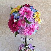 Цветы и флористика ручной работы. Ярмарка Мастеров - ручная работа Топиарий  Colorful. Handmade.