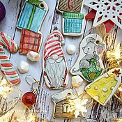 Пряники ручной работы. Ярмарка Мастеров - ручная работа Новогодний набор пряников. Рождественский гном. Handmade.