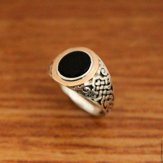 Кольца ручной работы. Ярмарка Мастеров - ручная работа. Купить Серебряное кольцо Мистерия с золотыми накладками, серебро 925. Handmade.