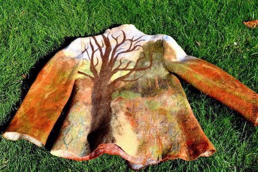"""Пиджаки, жакеты ручной работы. Ярмарка Мастеров - ручная работа. Купить Жакет"""" Лес"""". Handmade. Рисунок, лес"""