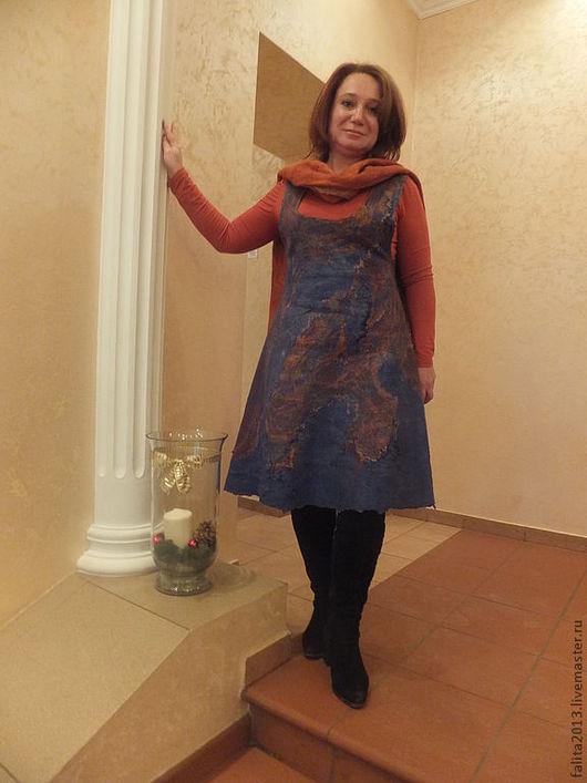 Платья ручной работы. Ярмарка Мастеров - ручная работа. Купить По мотивам Рериха (сарафан). Handmade. Синий