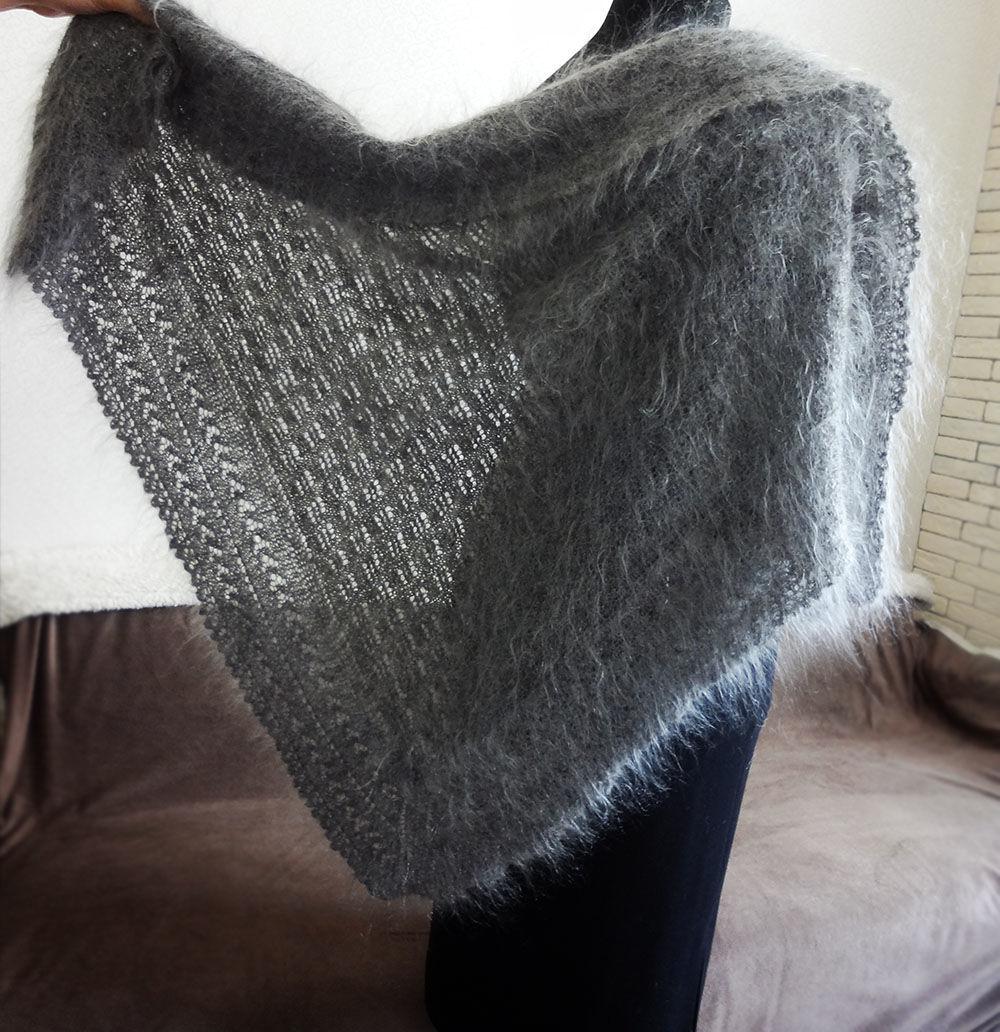the downy shawl scarf shawl Olga shalizpuha © https://www.livemaster.ru/item/edit