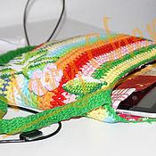 Сумки и аксессуары ручной работы. Ярмарка Мастеров - ручная работа Разноцветная полосатая сумка вязаная цвета радуги. Handmade.