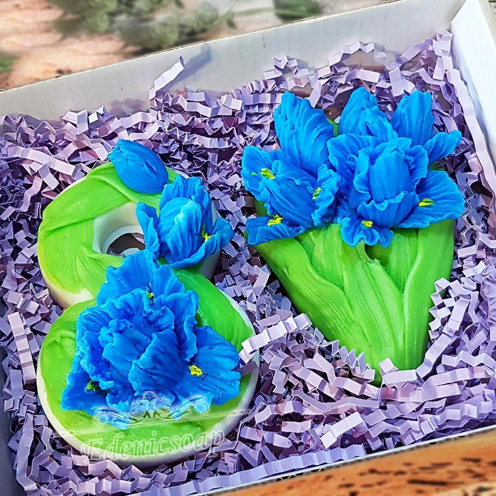 soap: ' Eight and irises ' gift set flowers on March 8, Soap, Moscow,  Фото №1