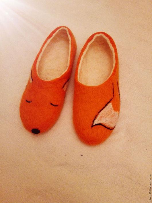 Обувь ручной работы. Ярмарка Мастеров - ручная работа. Купить Тапочки для дома. Handmade. Тапочки ручной работы, тапочки домашние