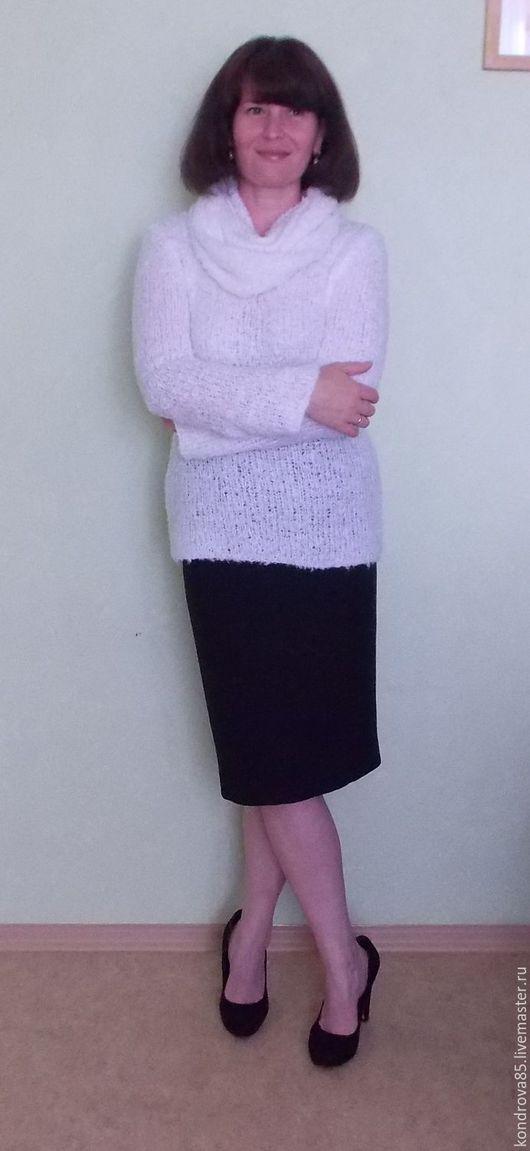 Кофты и свитера ручной работы. Ярмарка Мастеров - ручная работа. Купить Пуловер. Handmade. Белый, снуд, мода 2016