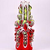 Подарки к праздникам ручной работы. Ярмарка Мастеров - ручная работа резные свечи. Handmade.