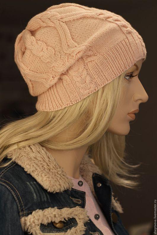 """Шапки ручной работы. Ярмарка Мастеров - ручная работа. Купить Женская шапочка """"Моя Виктория"""". Handmade. Бледно-розовый, шапочка"""