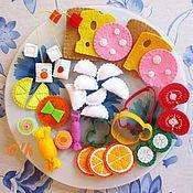 Куклы и игрушки ручной работы. Ярмарка Мастеров - ручная работа Большой набор еды (34 предмета - еда из фетра). Handmade.