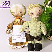 """Куклы и игрушки ручной работы. Ярмарка Мастеров - ручная работа куклы текстильные """"Жили-были дед да баба"""". Handmade."""