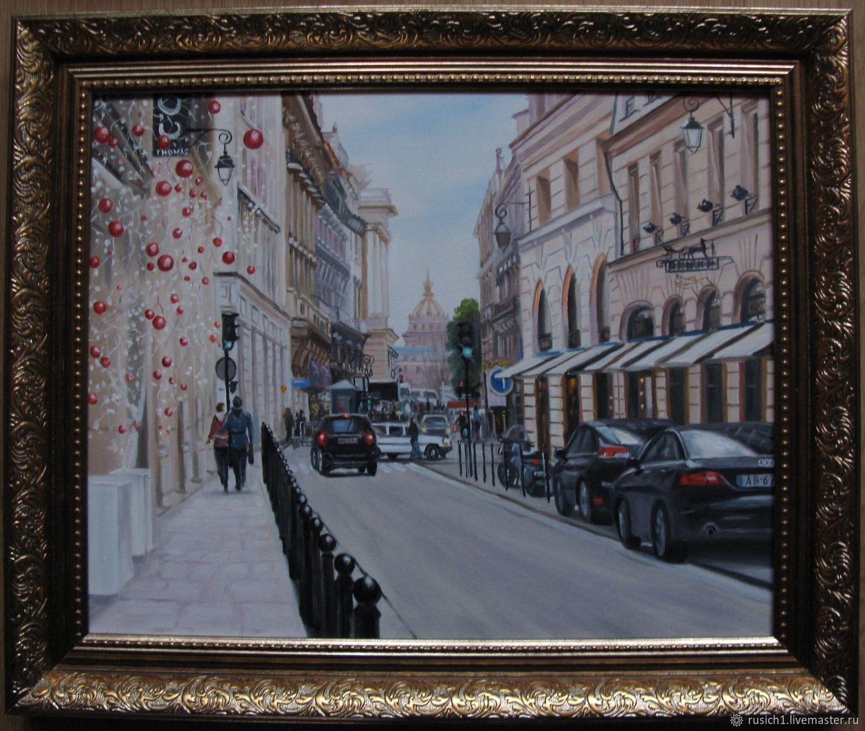 День в Париже. 40х50см, Картины, Москва,  Фото №1