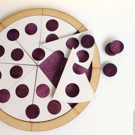 Развивающие игрушки ручной работы. Ярмарка Мастеров - ручная работа. Купить Пицца. Развивающая игра.. Handmade. Белый, рамка вкладыш