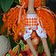 Куклы Тильды ручной работы. Тильда,,Дачница с морковками,,. Елена (elenadollworld). Ярмарка Мастеров. Ведерко, морковка, кукла в подарок, хлопок