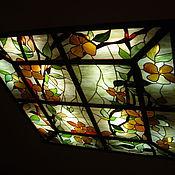 Для дома и интерьера ручной работы. Ярмарка Мастеров - ручная работа потолочный витражный плафон. Handmade.