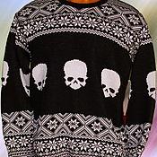 Одежда ручной работы. Ярмарка Мастеров - ручная работа Тату-свитер - Черепа. Handmade.