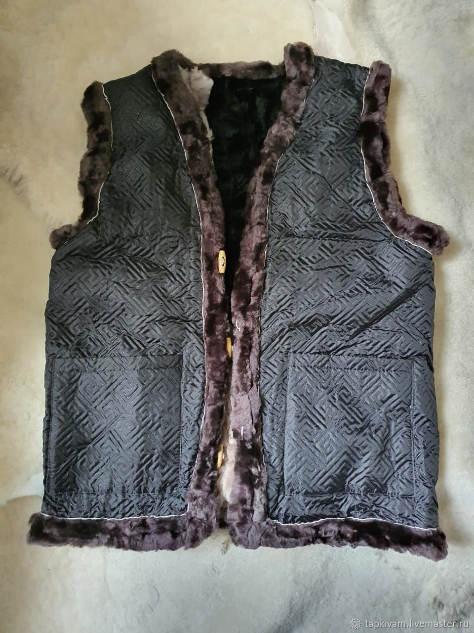 Copy of Men's vests made of sheepskin(Mouton), Mens vests, Moscow,  Фото №1