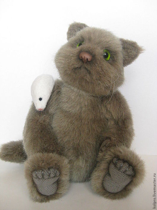 Мишки Тедди ручной работы. Ярмарка Мастеров - ручная работа. Купить А с мышками я  дружу .... Handmade. Серый, шерсть