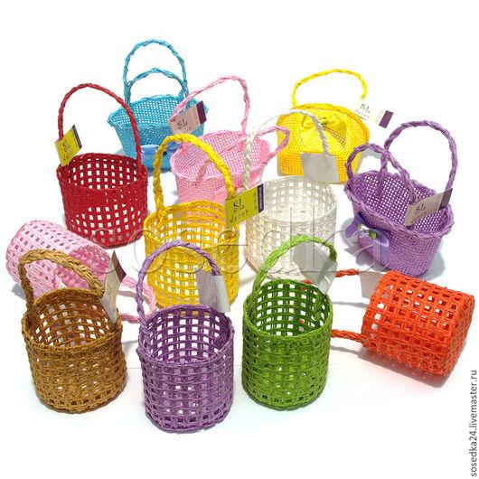 Куклы и игрушки ручной работы. Ярмарка Мастеров - ручная работа. Купить Мини корзиночки для кукол и маленьких композиций SA115-121. Handmade.