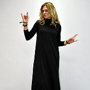 Одежда ручной работы. Ярмарка Мастеров - ручная работа Черное длинное платье. Handmade.