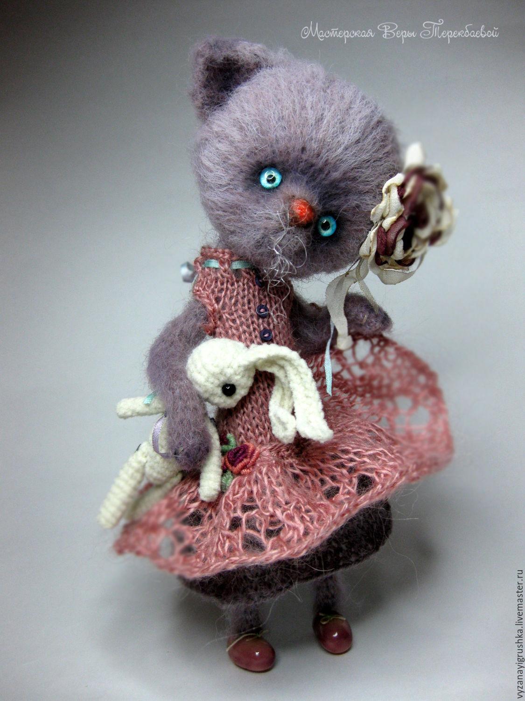 Игрушка вязаная Кошечка Молли, Мягкие игрушки, Санкт-Петербург,  Фото №1