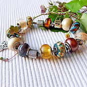 "Украшения handmade. Livemaster - original item Pandora style bracelet ""June"". Handmade."