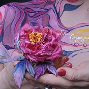 """ручной работы. Ярмарка Мастеров - ручная работа ЦВЕТЫ ИЗ ТКАНИ. Роза """"Розовый венец"""". Handmade."""