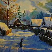 """Картины ручной работы. Ярмарка Мастеров - ручная работа Картина """"Моя деревня"""". Handmade."""