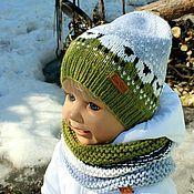 """Работы для детей, ручной работы. Ярмарка Мастеров - ручная работа """"Baablehat""""- шапочка+ снуд. Handmade."""