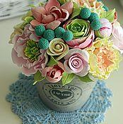 """Цветы и флористика ручной работы. Ярмарка Мастеров - ручная работа Композиция в стиле """"прованс"""" 2. Handmade."""