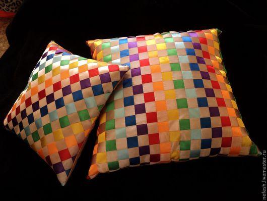 Текстиль, ковры ручной работы. Ярмарка Мастеров - ручная работа. Купить Интерьерная подушка Декоративная подушка Радуга купить в подарок. Handmade.