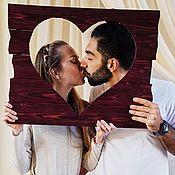 Панно ручной работы. Ярмарка Мастеров - ручная работа Сердце рамка панно для фотозоны сердце. Handmade.