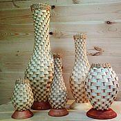 Для дома и интерьера ручной работы. Ярмарка Мастеров - ручная работа Вазы Плетеные, от 550 до 1800р. Handmade.