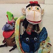 Куклы и пупсы ручной работы. Ярмарка Мастеров - ручная работа Куклы для Спекттакля 38 попугаев. Handmade.