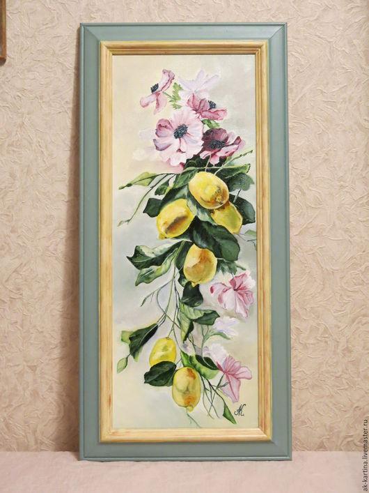 """Картины цветов ручной работы. Ярмарка Мастеров - ручная работа. Купить """"Утренняя свежесть""""  Масло. Холст на подрамнике. Handmade. Комбинированный"""