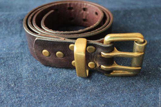 Пояса, ремни ручной работы. Ярмарка Мастеров - ручная работа. Купить код тов. 2/17 Винтажный ремень ручной работы - 38 мм. Handmade.
