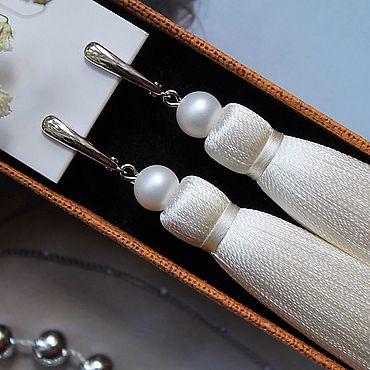 Украшения ручной работы. Ярмарка Мастеров - ручная работа Серьги-кисти «Ivory». Handmade.