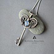 """Украшения ручной работы. Ярмарка Мастеров - ручная работа Кулон из серебра """"Key from heart"""" серебро 925. Handmade."""