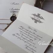 Свадебный салон ручной работы. Ярмарка Мастеров - ручная работа Приглашения на свадьбу Письмо. Handmade.