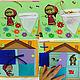 """Развивающие игрушки ручной работы. Заказать Развивающая книжка """"Маша и медведь"""". Марья-искусница (Марина). Ярмарка Мастеров. Развивающая игрушка"""